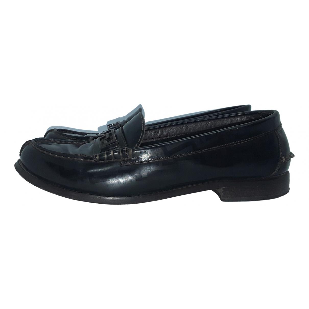 Fendi \N Brown Leather Flats for Women 36 EU