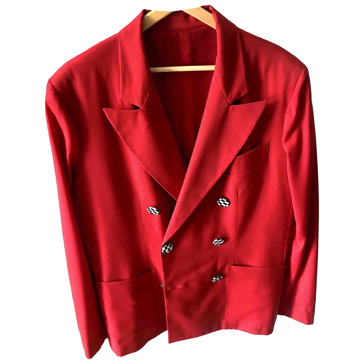Non Signé / Unsigned \N Red Wool jacket  for Men 48 IT