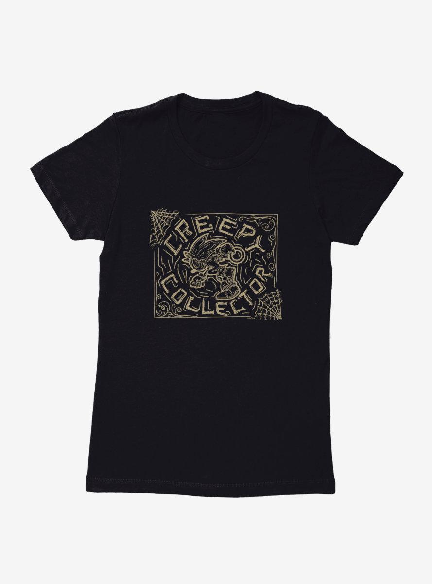 Sonic The Hedgehog Halloween Creepy Collector Womens T-Shirt