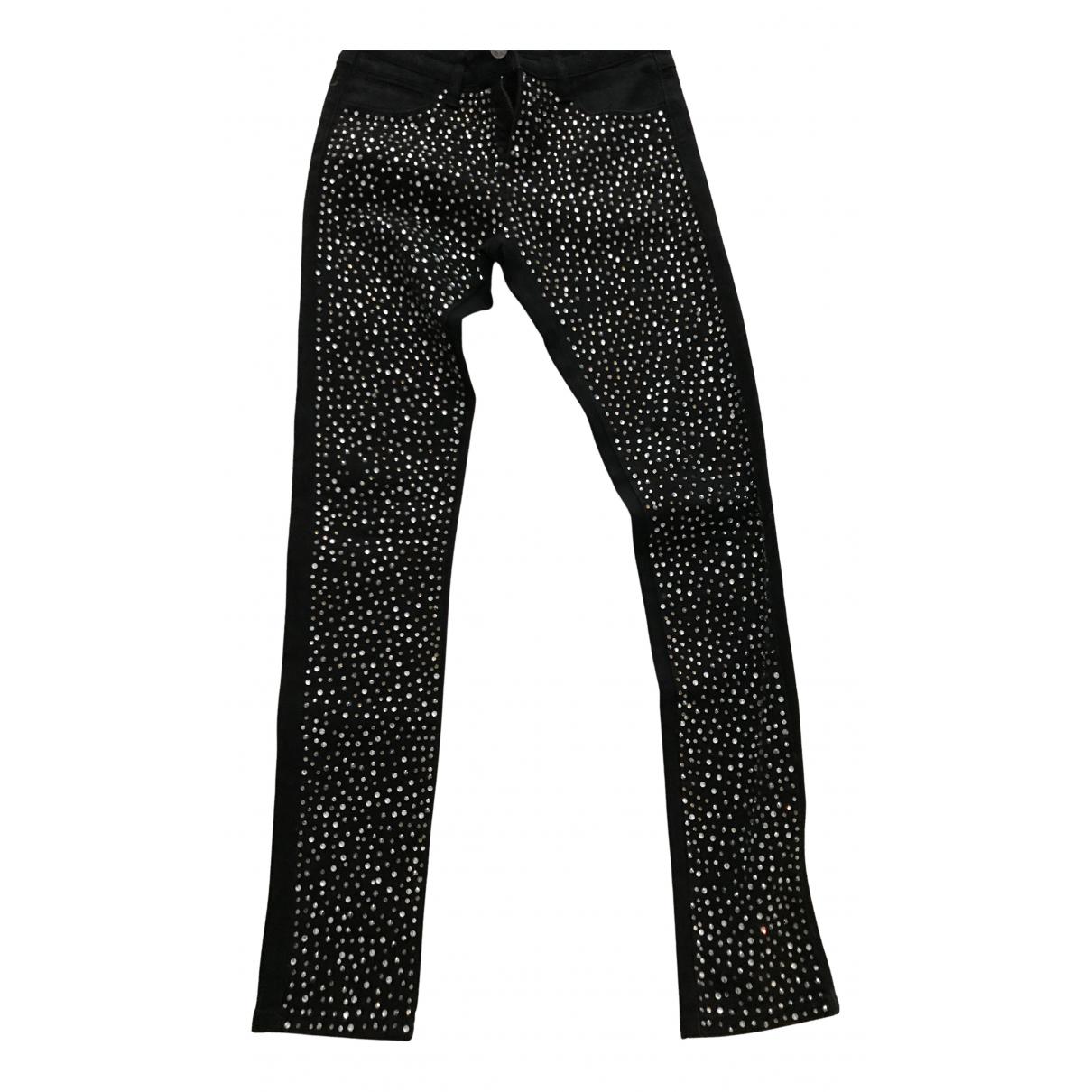 American Retro - Pantalon   pour femme en coton - noir
