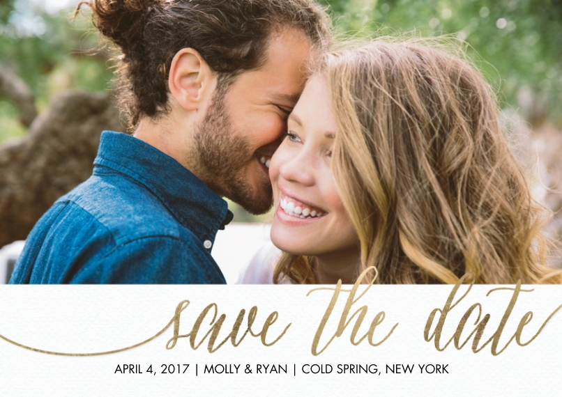 Save the Date Flat Matte Photo Paper Cards with Envelopes, 5x7, Card & Stationery -Save the Date Script
