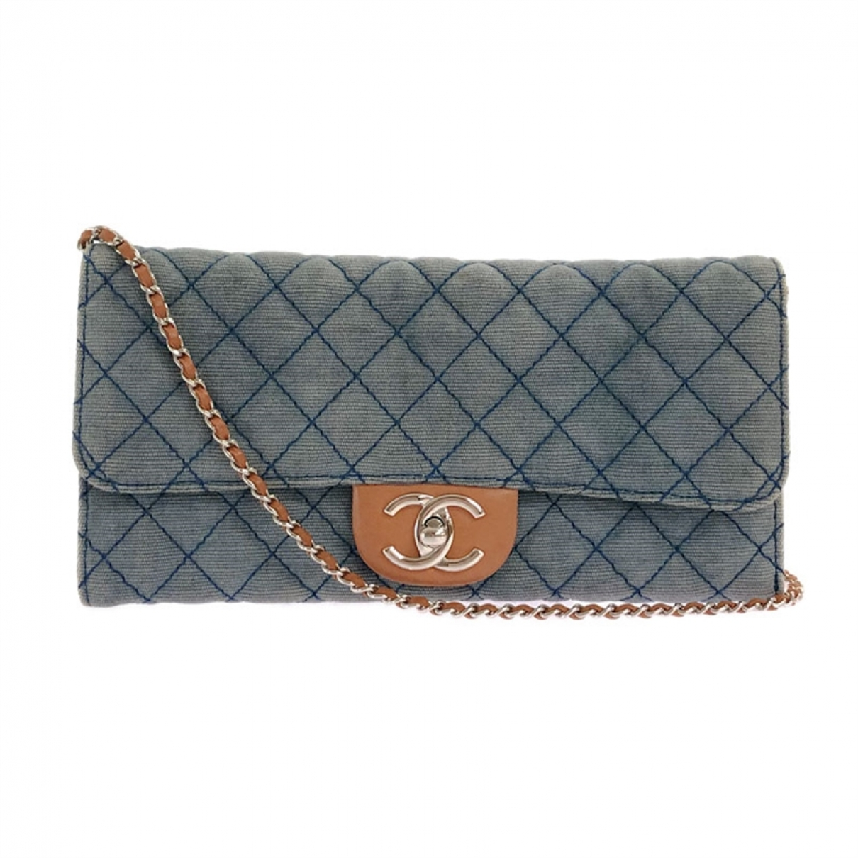 Bolsos clutch en Denim - Vaquero Azul Chanel