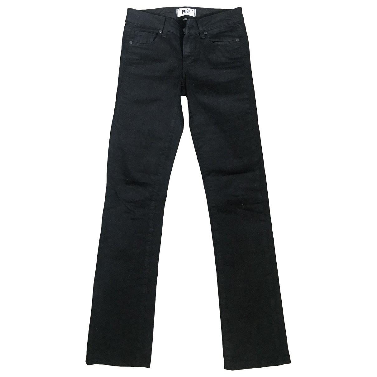 Paige Jeans \N Black Cotton - elasthane Jeans for Women 25 US