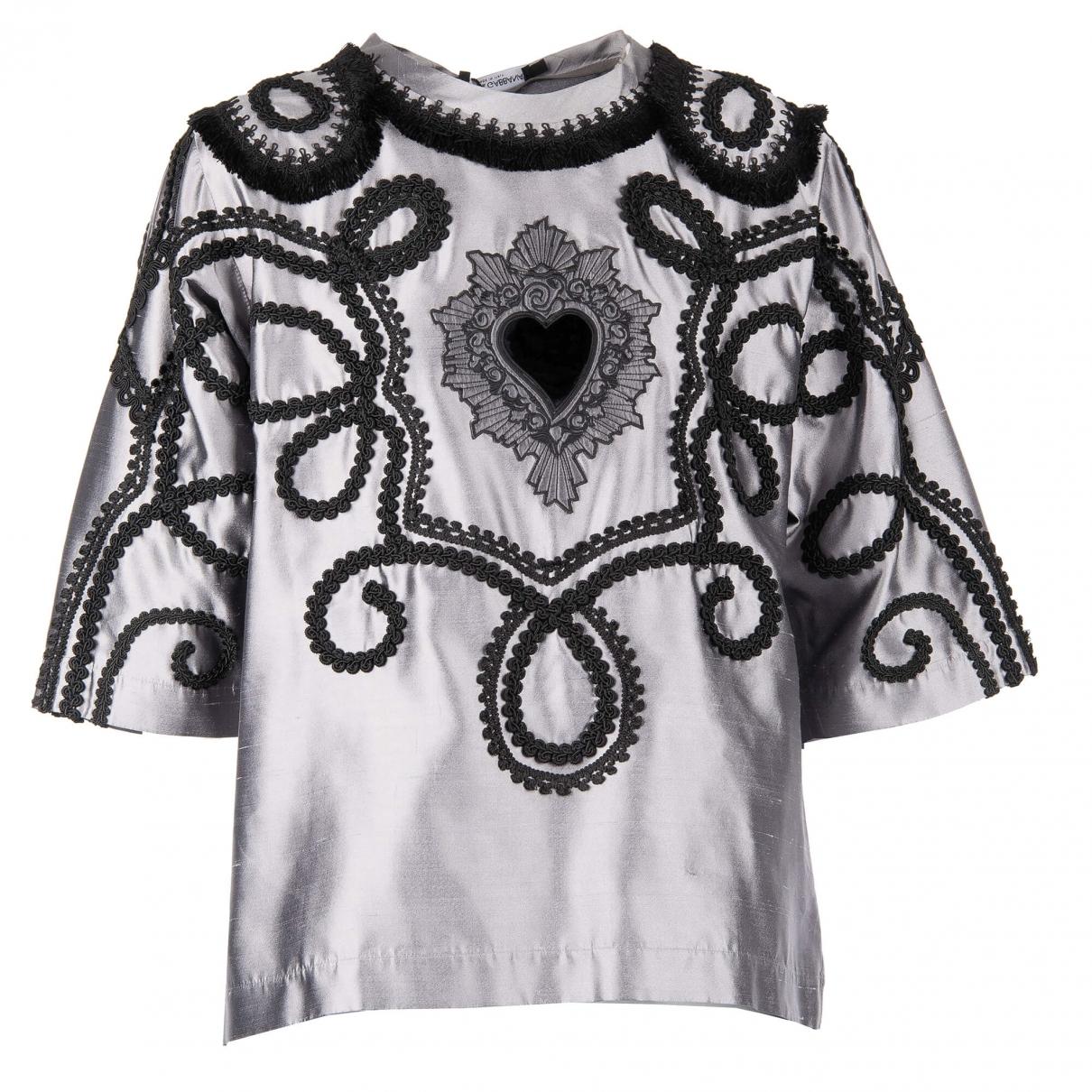 Dolce & Gabbana - Tee shirts   pour homme en soie - argente