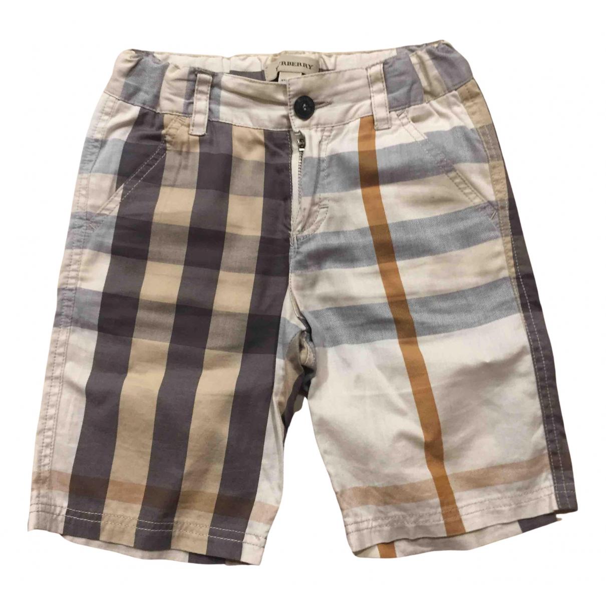 Burberry \N Shorts in  Kamel Baumwolle