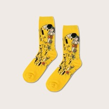 Oil Painting Pattern Socks