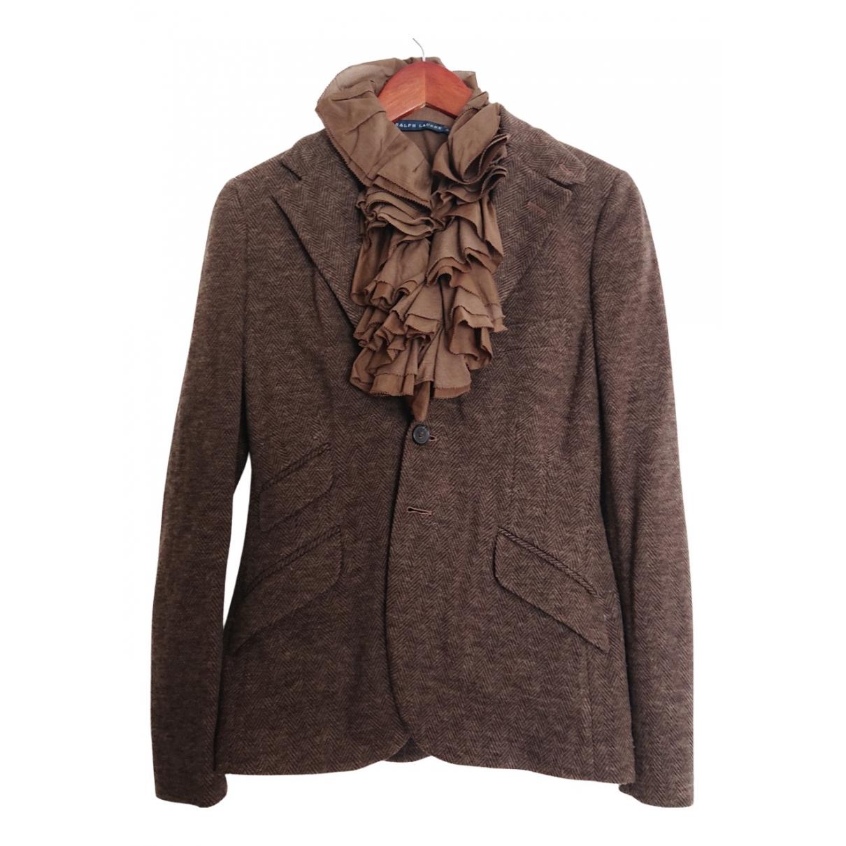 Polo Ralph Lauren - Veste   pour femme en laine - marron