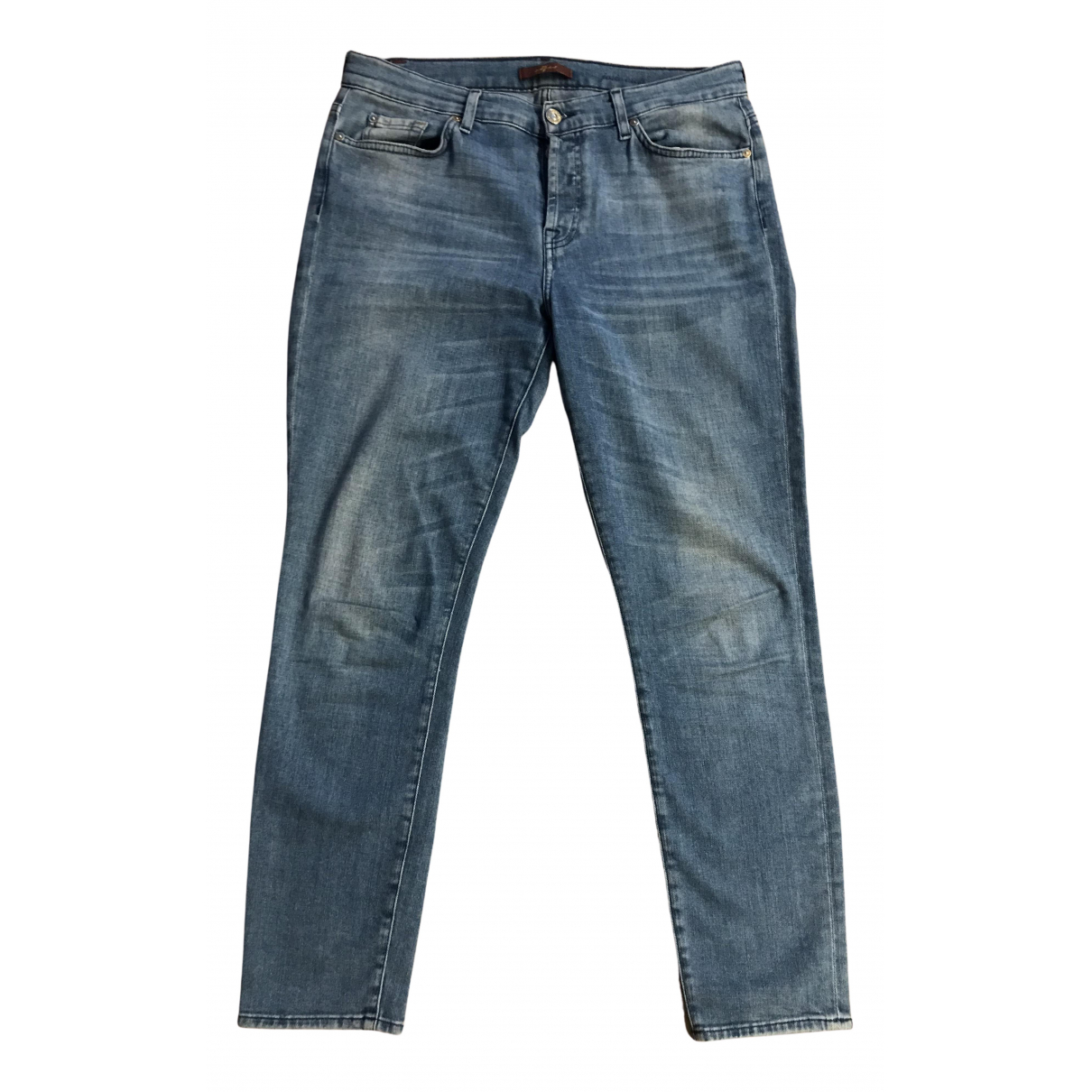 7 For All Mankind N Blue Cotton - elasthane Jeans for Women 29 US