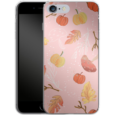 Apple iPhone 6 Plus Silikon Handyhuelle - Foliage Pink Woodland von Mukta Lata Barua