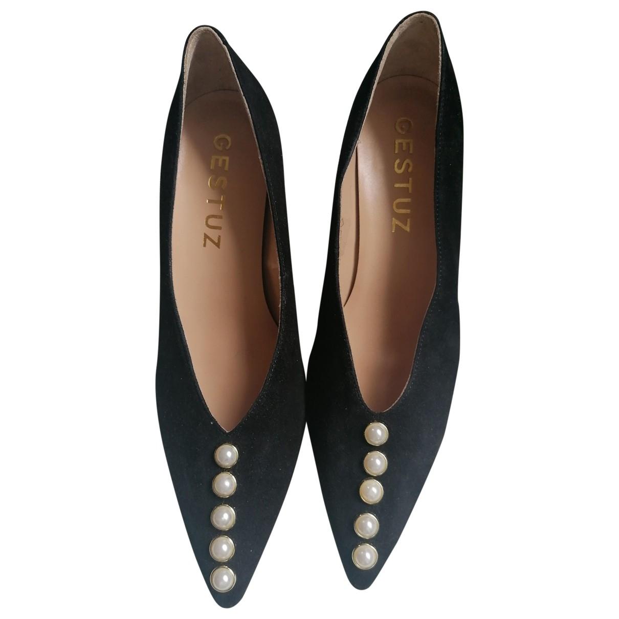 Gestuz \N Black Leather Heels for Women 40 EU