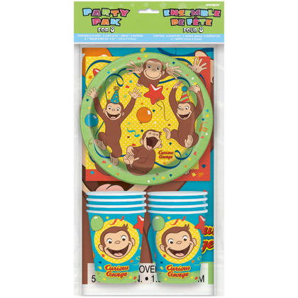 Curious George Party Pack for 8 For Birthday Party