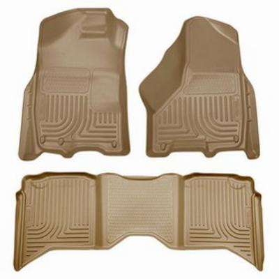 Husky Liners WeatherBeater Front and Rear Floor Liner (Tan) - 99003
