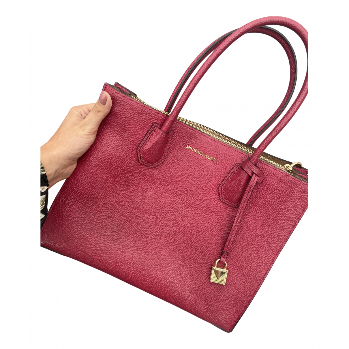Michael Kors Mercer Burgundy Leather handbag for Women \N