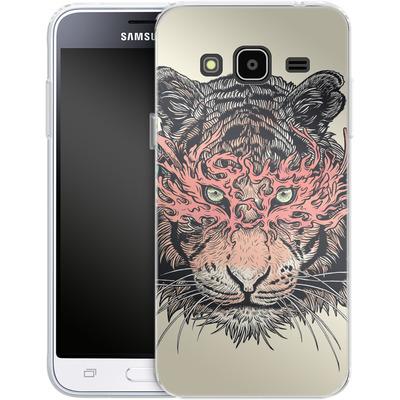 Samsung Galaxy J3 (2016) Silikon Handyhuelle - Masked Tiger von Mat Miller