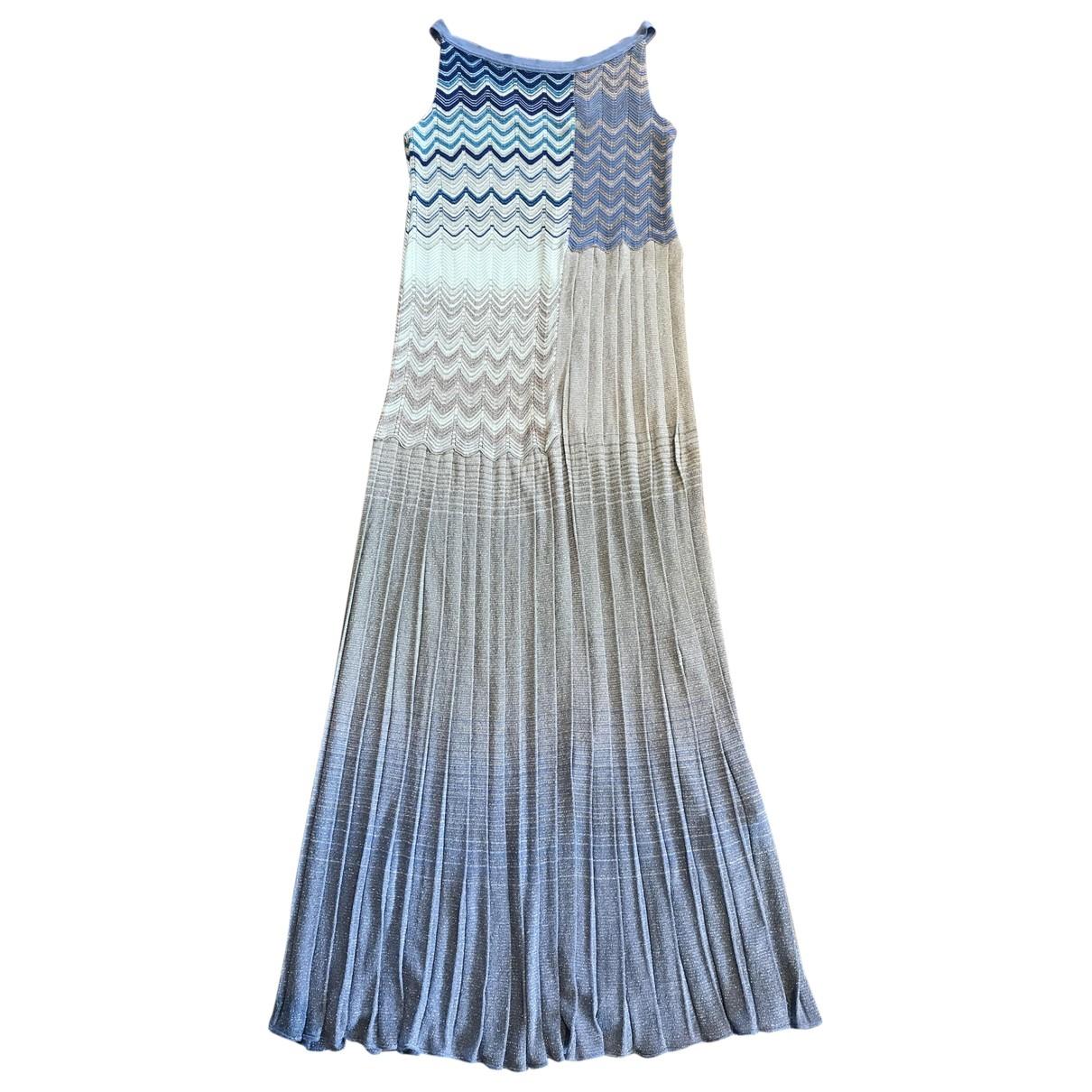 Missoni \N Kleid in  Blau Viskose