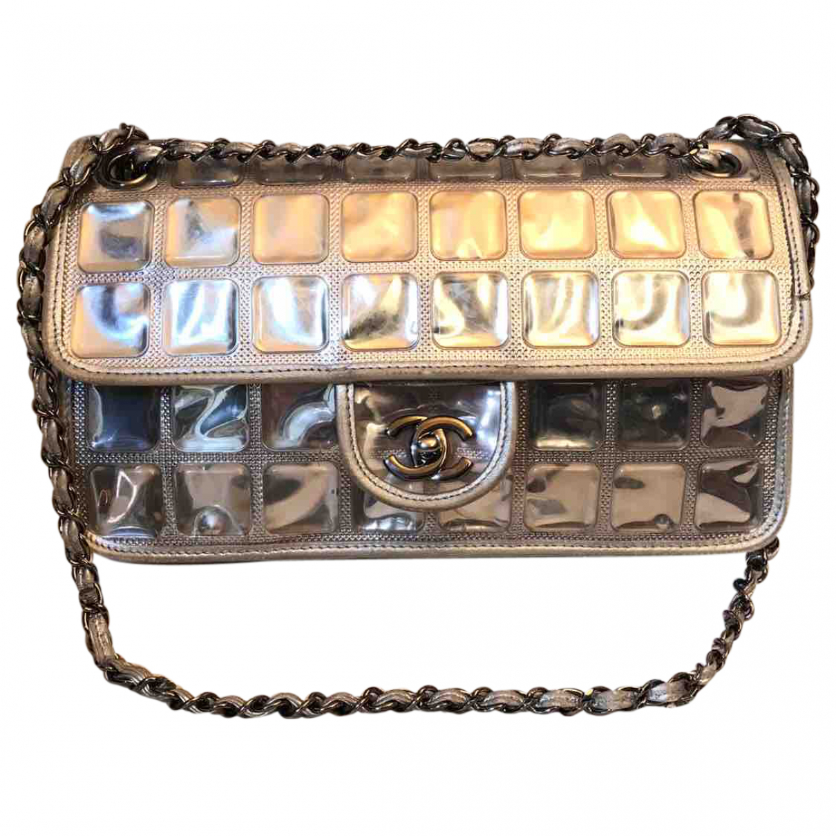Chanel N Silver Leather handbag for Women N