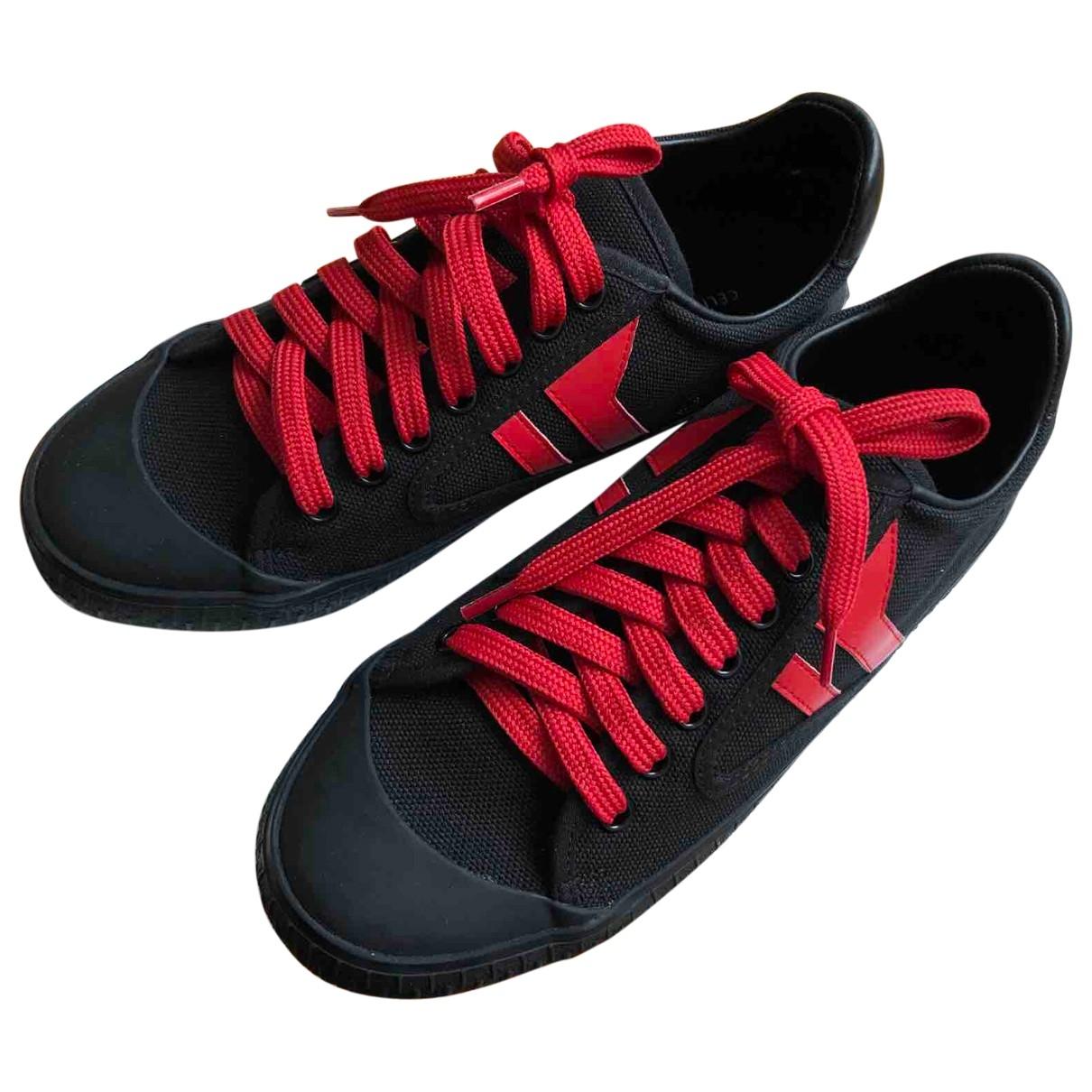 Celine \N Black Cloth Trainers for Women 37 EU