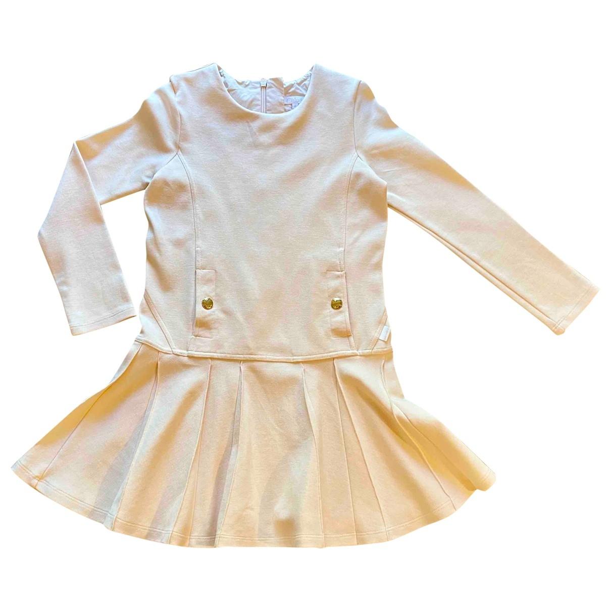 Chloe - Robe    pour enfant en coton - elasthane - rose