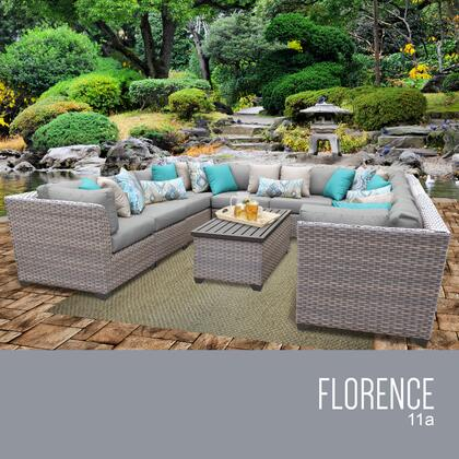 FLORENCE-11a Florence 11 Piece Outdoor Wicker Patio Furniture Set 11a with 1 Cover in