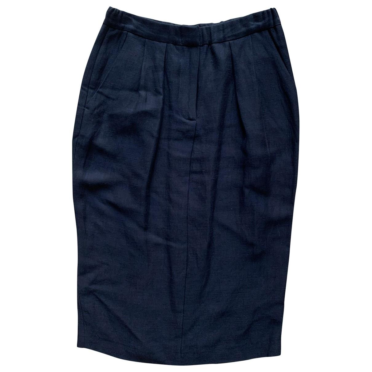 Pomandère \N Black Linen skirt for Women M International