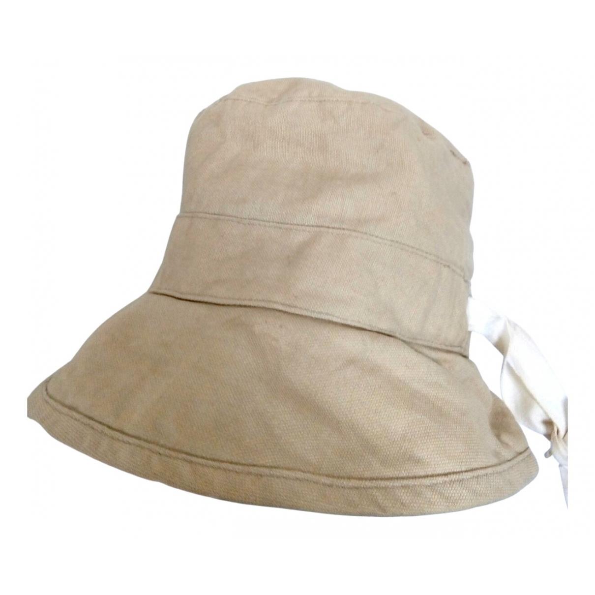 Ann Taylor - Chapeau   pour femme en coton - beige