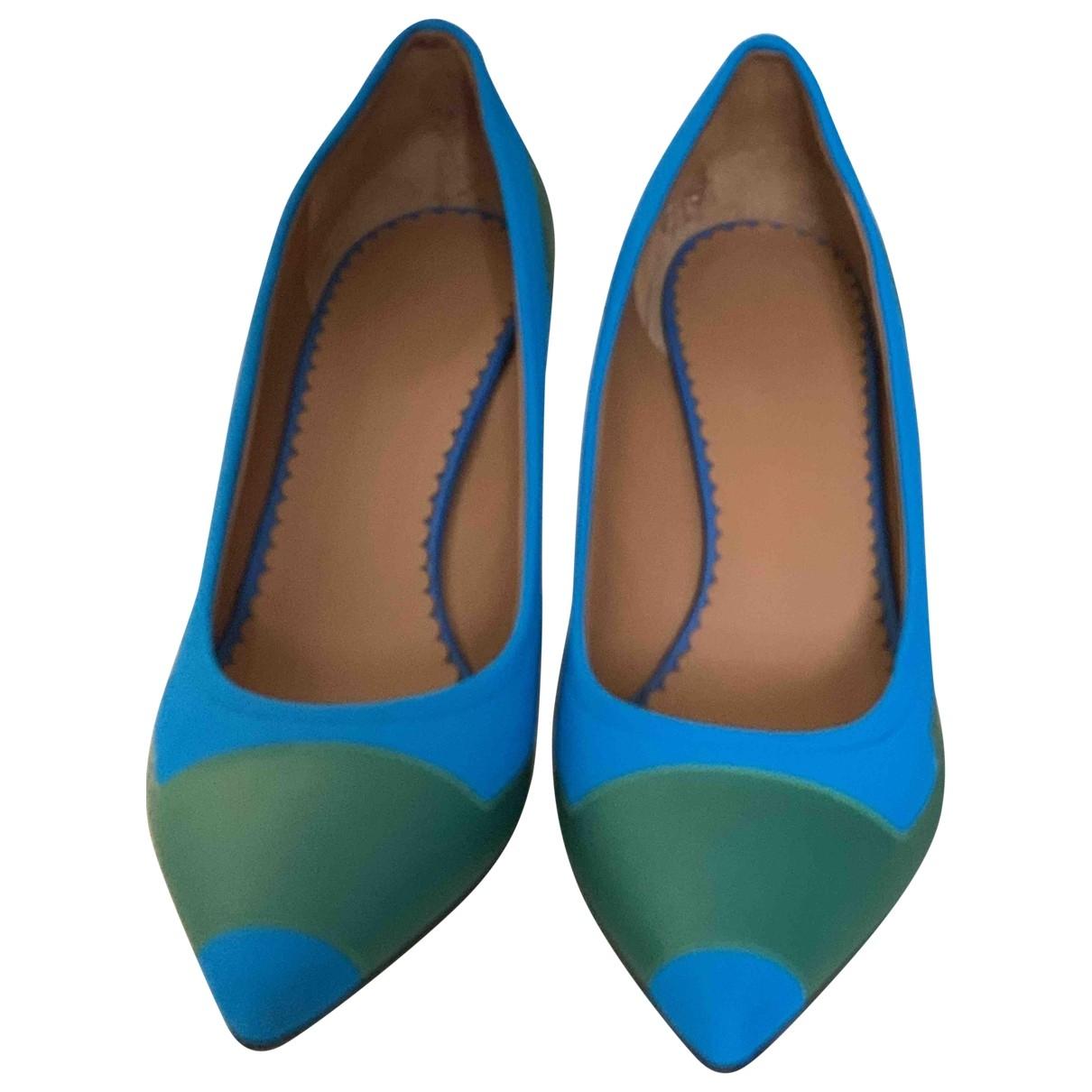 M Missoni \N Blue Leather Heels for Women 39 EU
