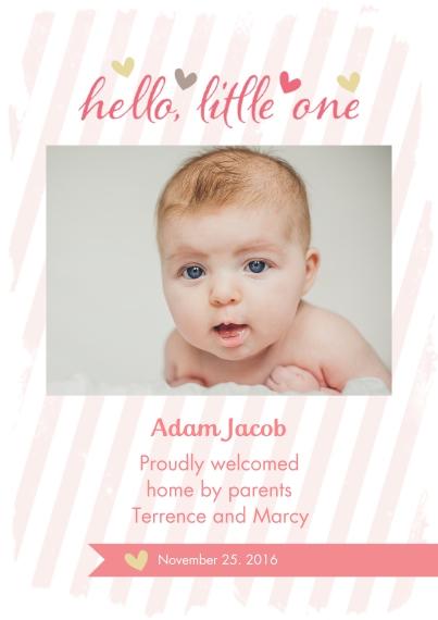 Newborn 5x7 Cards, Premium Cardstock 120lb, Card & Stationery -Big Debut - Girl