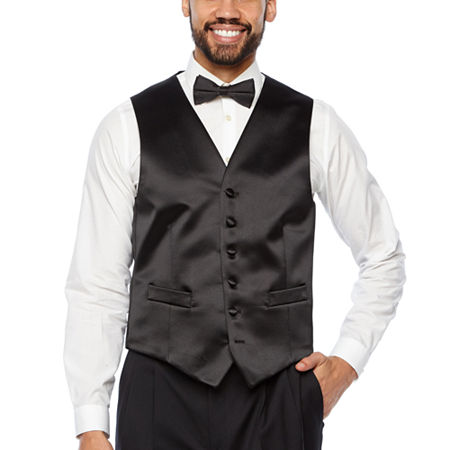 Stafford Tuxedo Vest, Small , Black