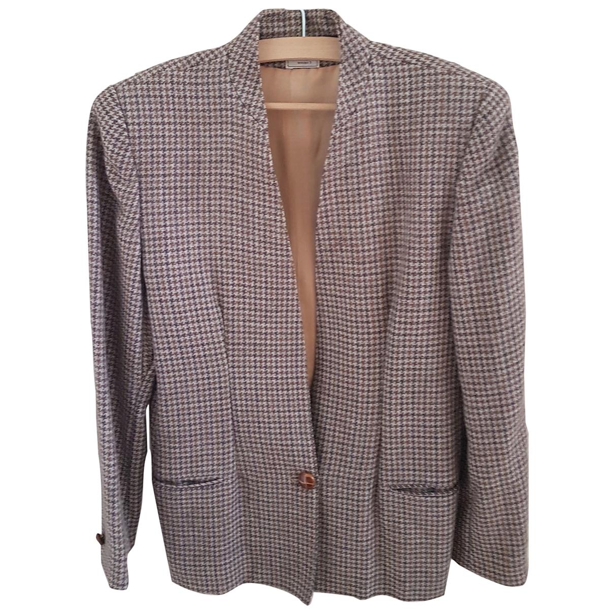 - Veste Oversize pour femme en laine - beige