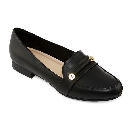 Liz Claiborne Womens Trish Closed Toe Slip-On Shoe, 6 Medium, Black