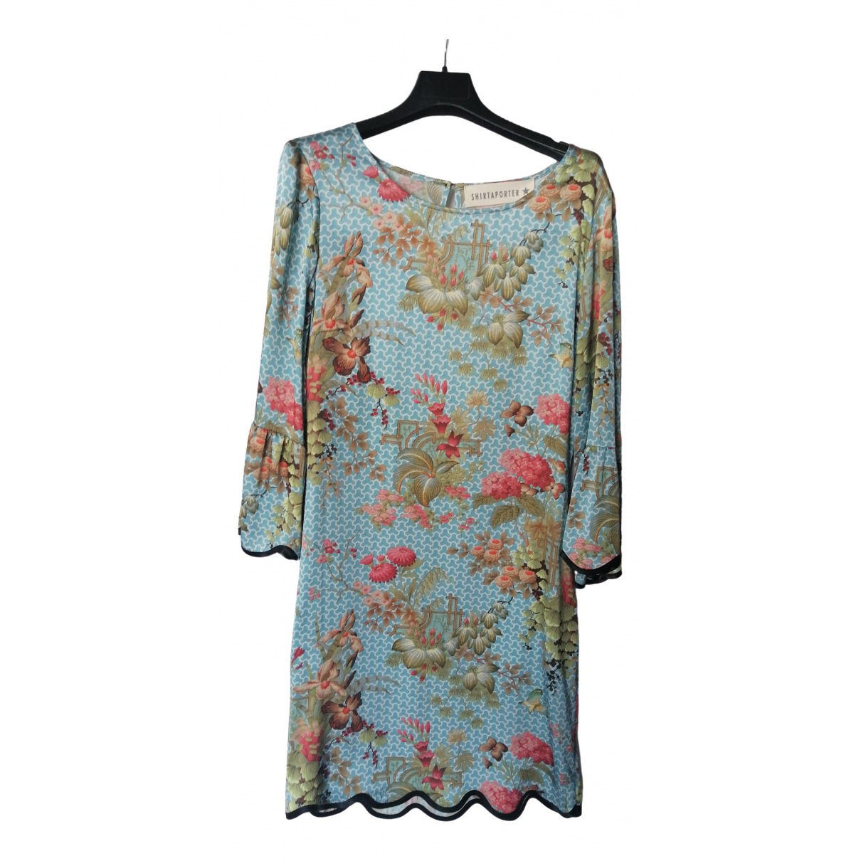 Shirtaporter \N Kleid in  Bunt Seide