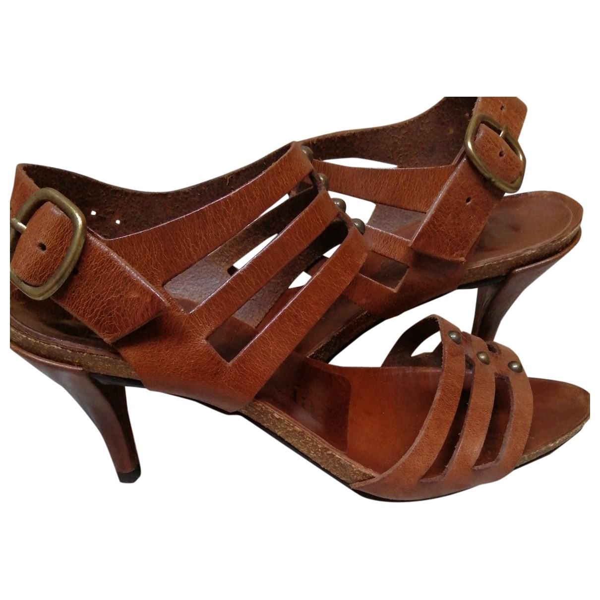 Pedro Garcia \N Brown Leather Sandals for Women 39 EU