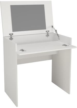 221603 Vanity with Enclosed Storage and Mirror  Lift to Open Top Panel  Scratch  Water and Stain Resistant Melamine Top Panel  in