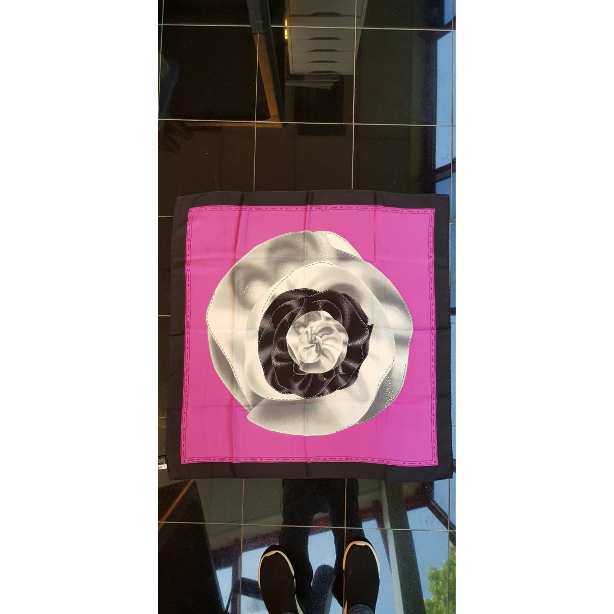 Versace \N Purple Silk Silk handkerchief for Women \N