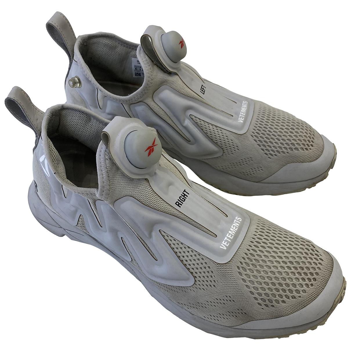 Reebok X Vetements \N Grey Cloth Trainers for Men 43 EU