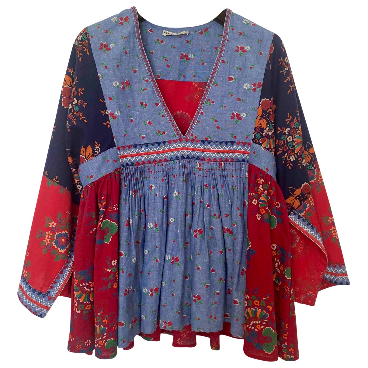 Ulla Johnson - Top   pour femme en coton - multicolore