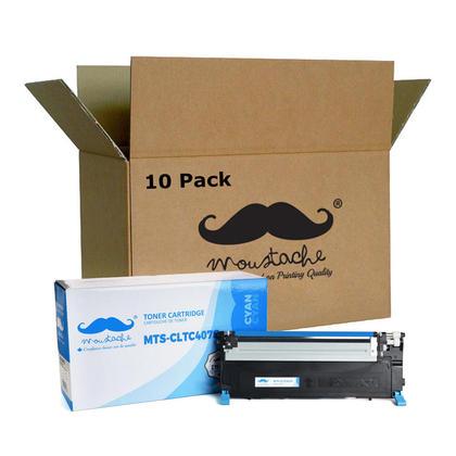 Compatible Samsung CLT-C407S cartouche de toner cyan - Moustache - 10/paquet