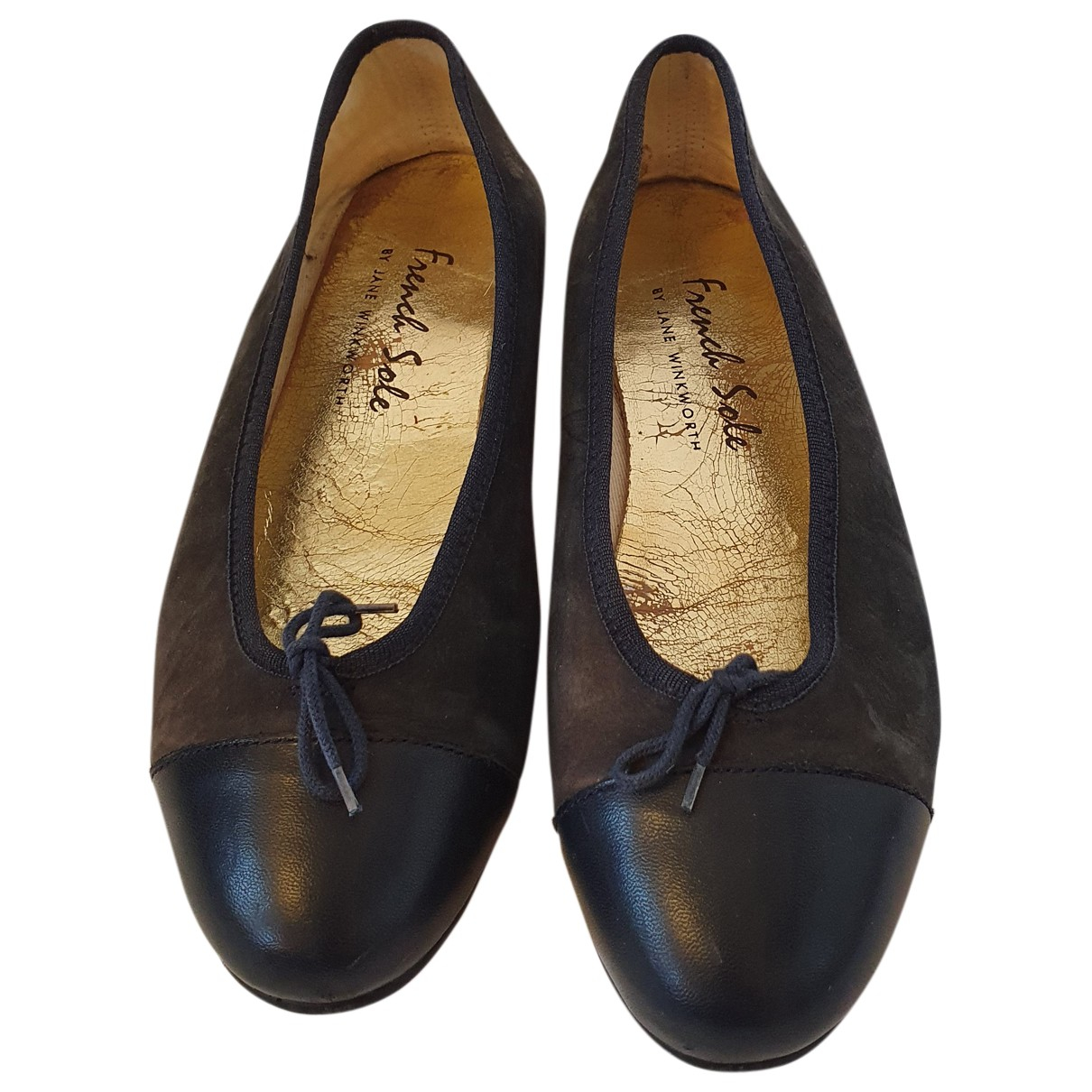 French Sole \N Ballerinas in  Blau Leder
