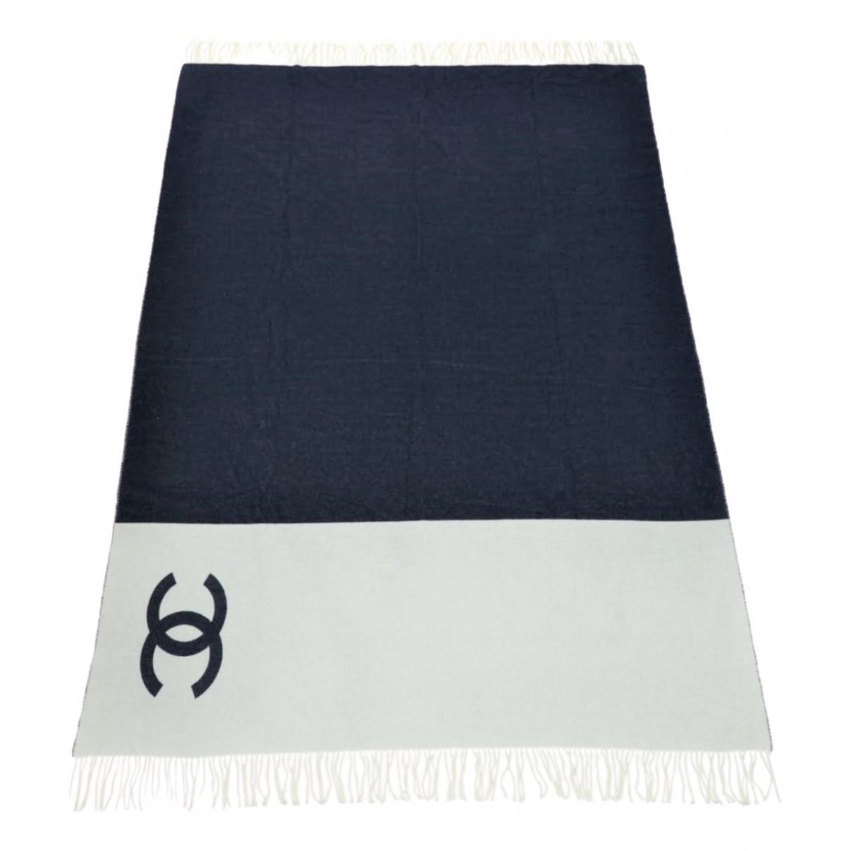 Chanel \N Navy Wool scarf for Women \N