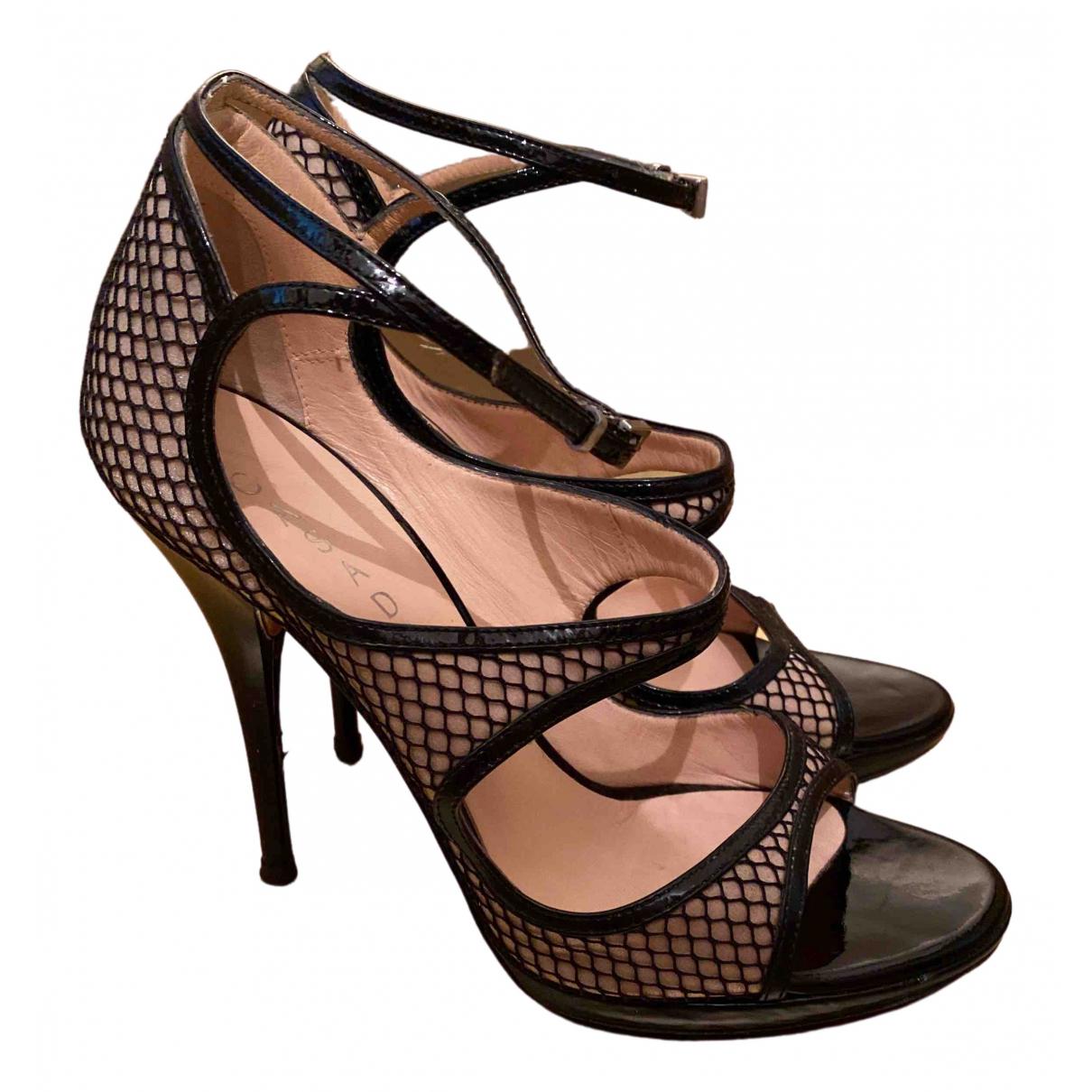 Casadei \N Black Leather Heels for Women 37.5 EU