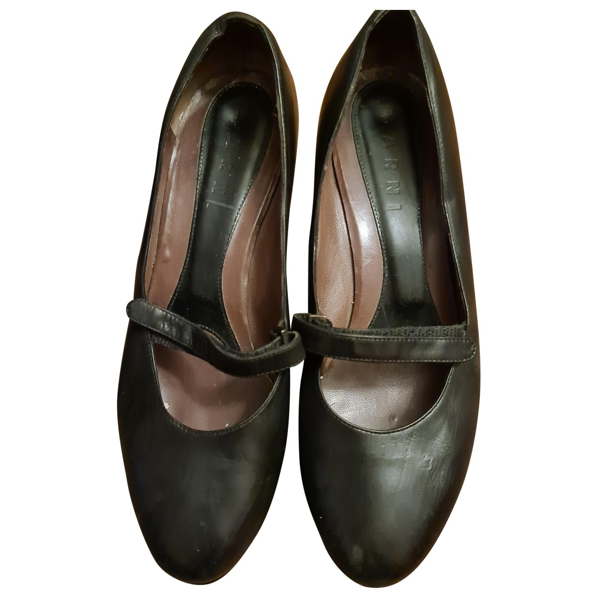Marni - Escarpins   pour femme en cuir - noir