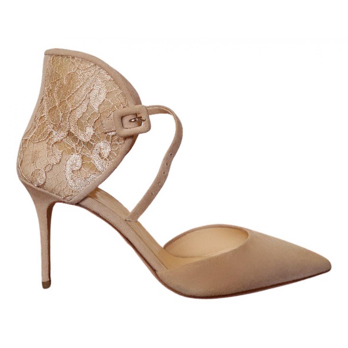 Giuseppe Zanotti \N Beige Suede Heels for Women 38 IT
