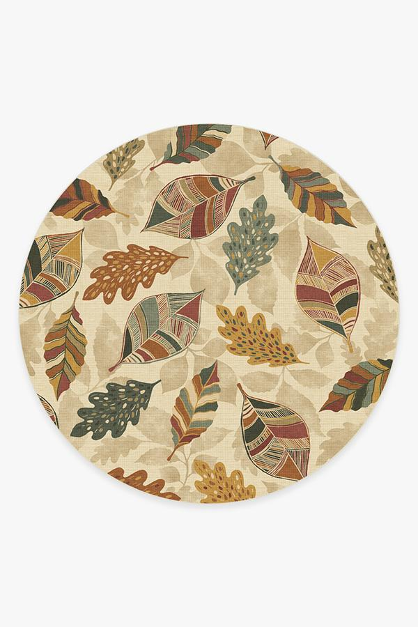 Washable Rug Cover & Pad | Aurelia Amber Rug | Stain-Resistant | Ruggable | 8 Round