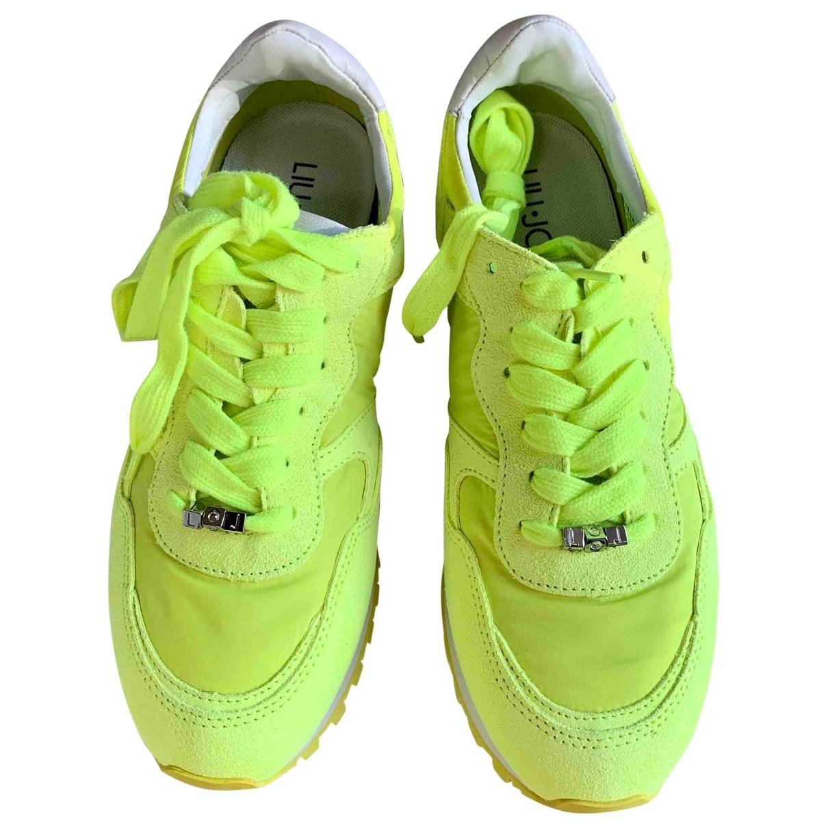 Liu.jo - Baskets   pour femme en cuir - jaune