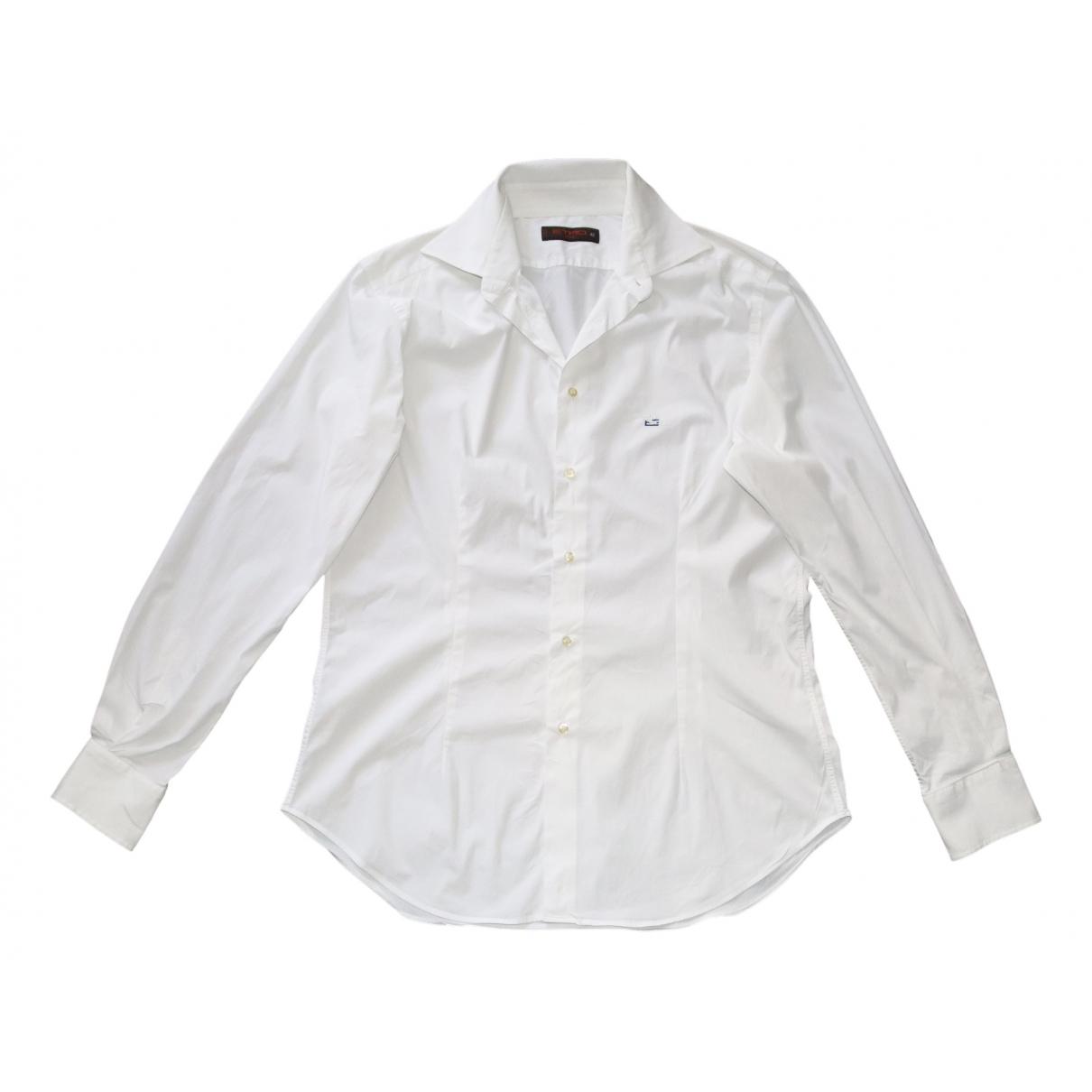 Etro N White Cotton Shirts for Men 42 EU (tour de cou / collar)