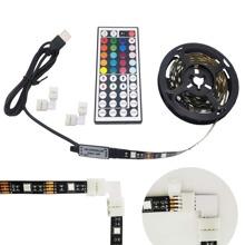 1 pieza luz de tira LED de fondo de TV con control remoto