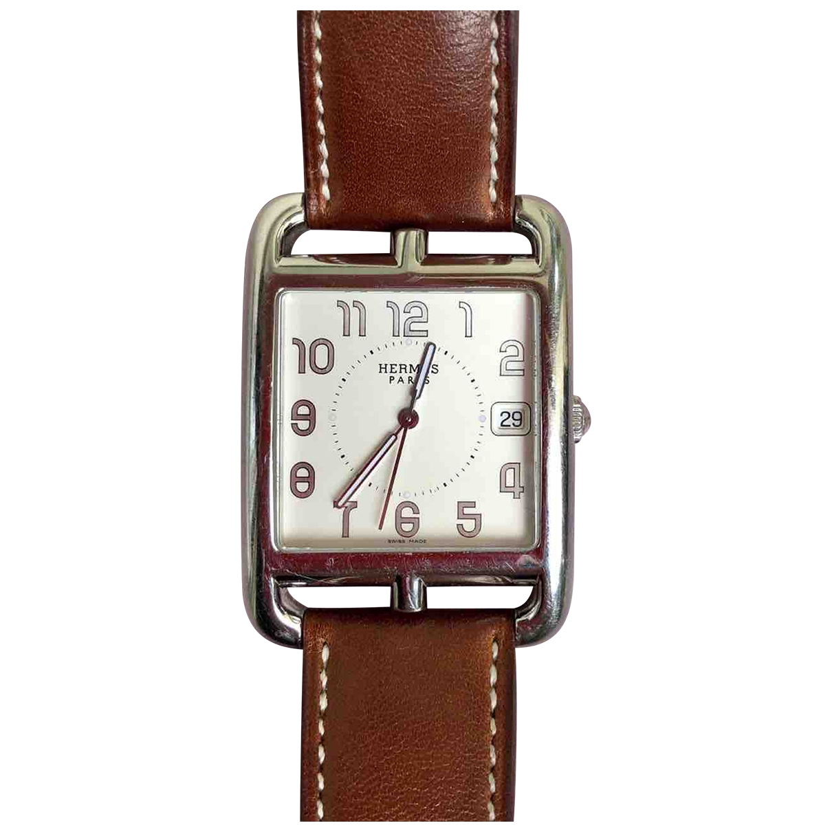 Hermes Cape Cod Uhr in  Braun Stahl