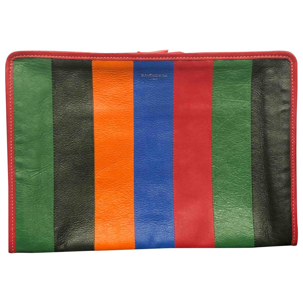 Balenciaga - Pochette Bazar Bag pour femme en cuir - rouge