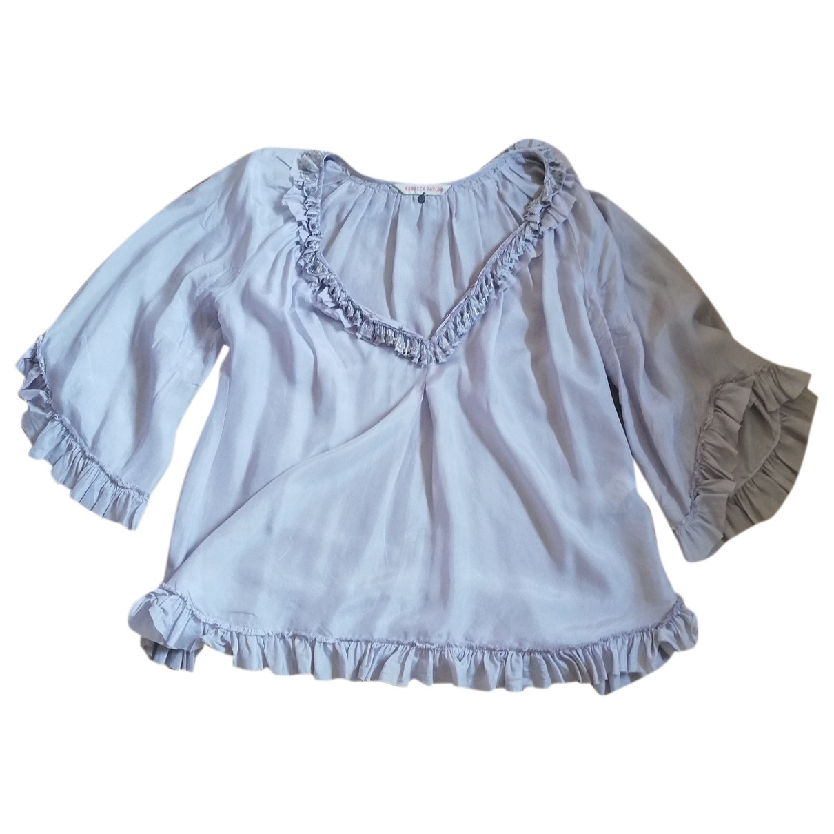 Ann Taylor \N Purple Silk  top for Women One Size FR