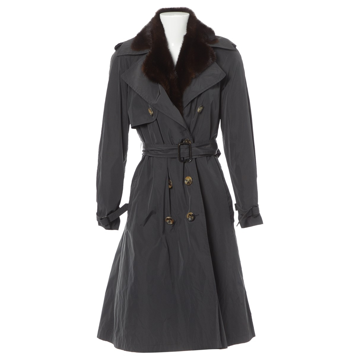 Lanvin \N Trench in  Grau Polyester